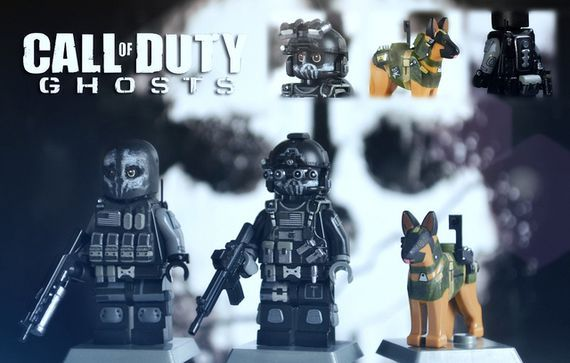 Call of Duty Ghosts Keegan, Logan & Riley Custom Minifigures