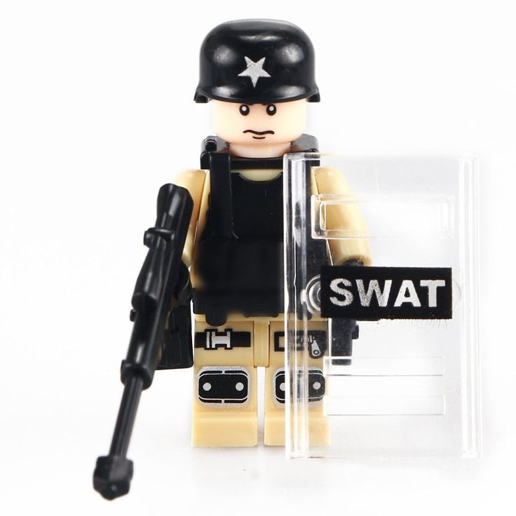 SWAT Army Soldiers Fight Force Military Lego Compatible  Minifigure Toy