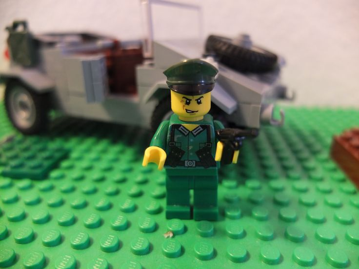 German Soldier (green) Custom Minifigure