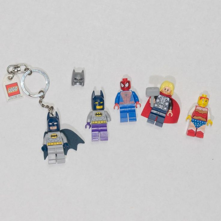 Lego Star Wars Minifigure Lot Super Heroes Spider-Man Thor Wonder Woman Batman