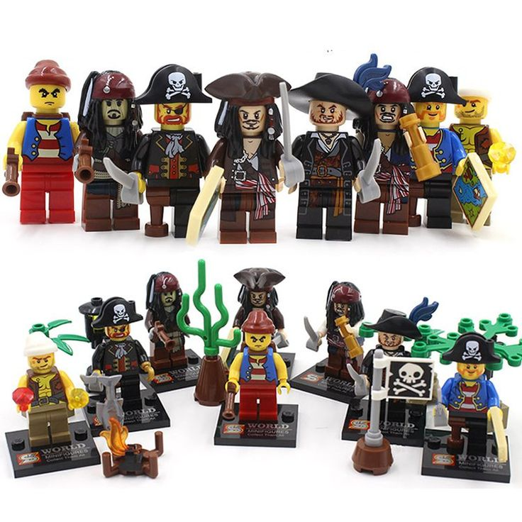 SY273 Super Hero Pirates Caribbean Jack Sparrow Minifigure Compatible Lego Toy