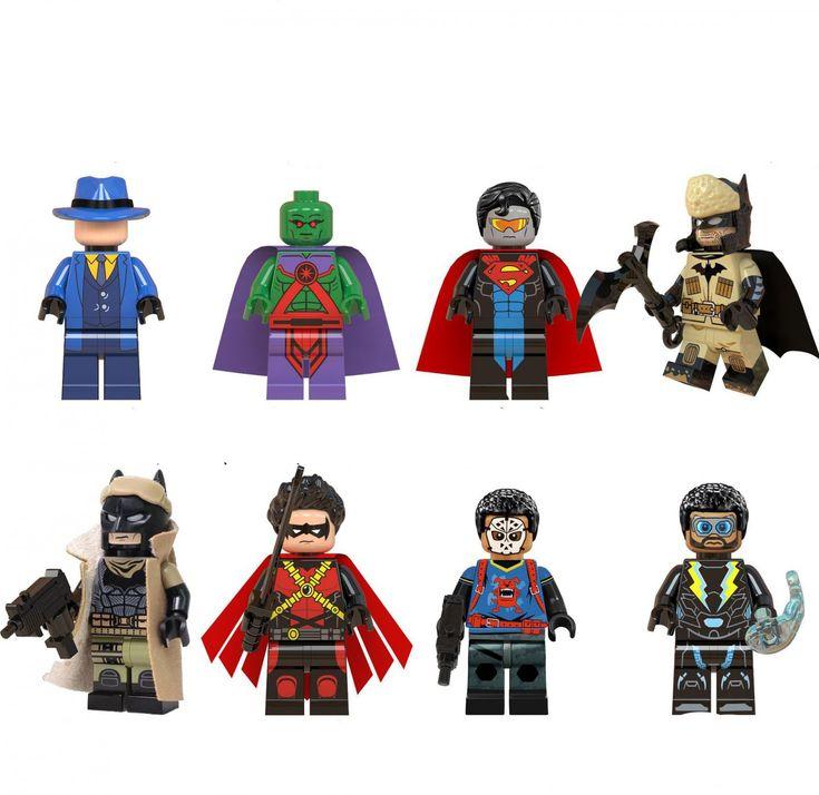 Eradicator Red Robin Martian Manhunter Minifigures Compatible Lego DC Super Heroes set
