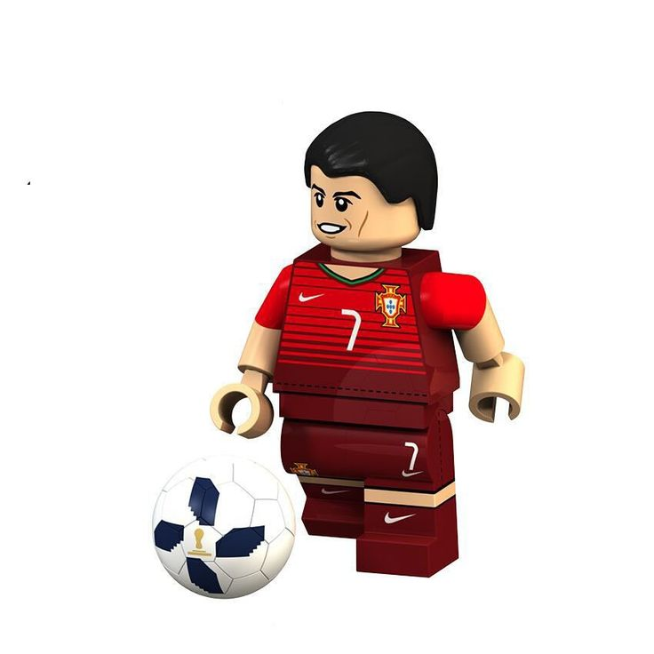 Cristiano Ronaldo minifigures 2018 World Cup Lego Minifigures sets Compatible Toys