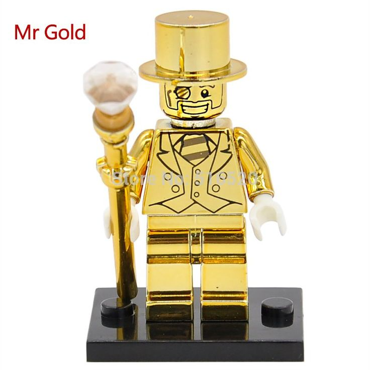 Mr.Gold Limited Edition Chrom Golden Minifigures Building Blocks Toys Lego