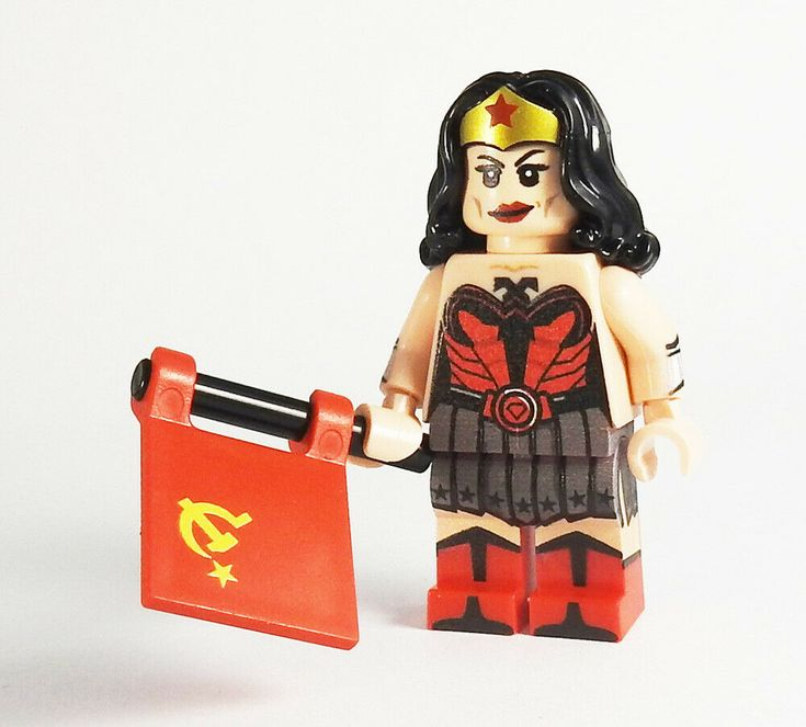 Custom Red Son Wonder Woman DC Super heroes minifigures Batman on lego bricks | …