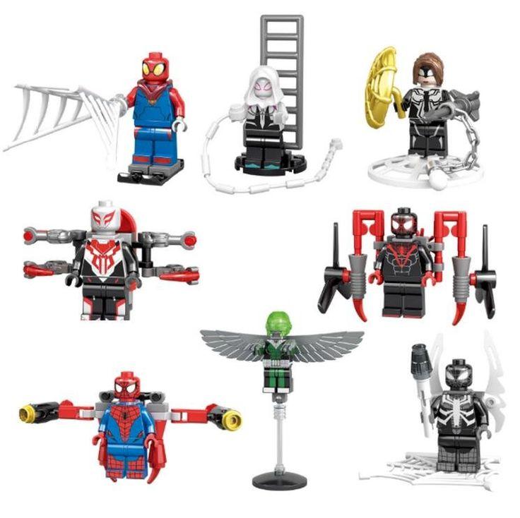 Spider-Man building block Toy Spider-Man Minifigures Compatible Lego Super Heroes Minifigures