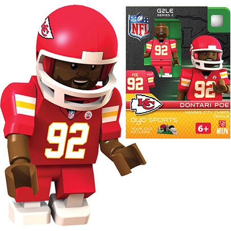 Kansas City Chiefs Minifigure – Dontari Poe –  – Fat Brain Toys