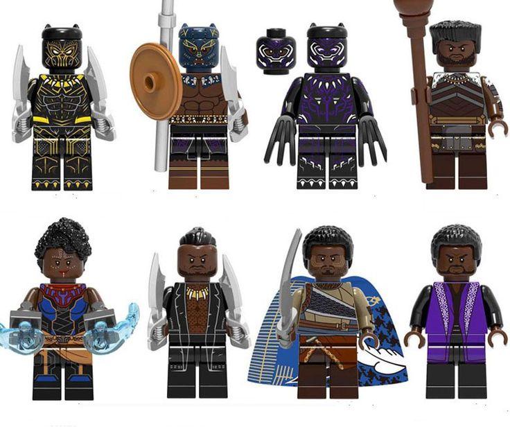 Black Panther series Minifigures Wakanda Tribes minifigure Lego Marvel Super Heroes Compatibl…