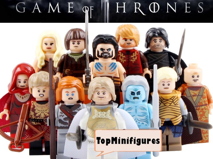 Game of Thrones set of 12 custom minifigures