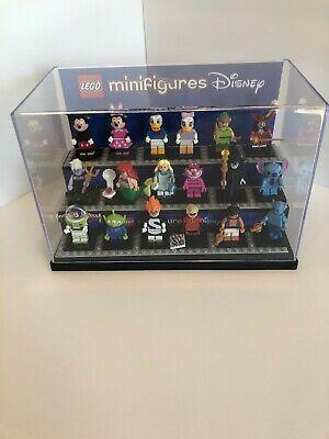 Disney Lego Minifigures Series 1 Complete Set Lot Includes Custom Display Case