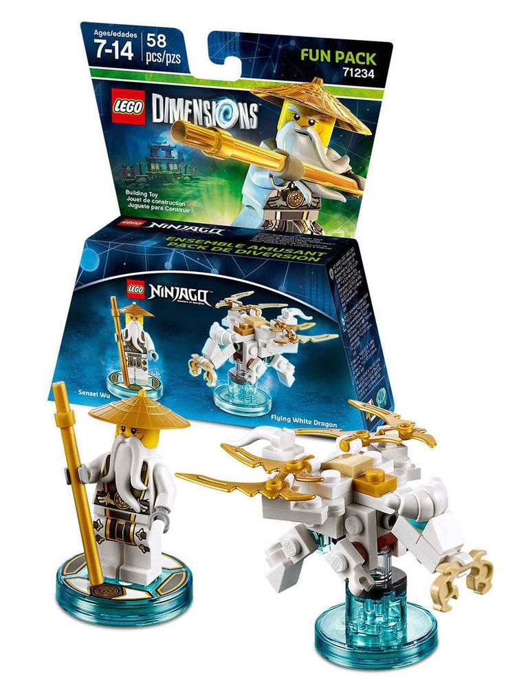 Diecast Auto World – Lego Dimensions Ninjago Sensei Wu Fun Pack With Mini Figure…