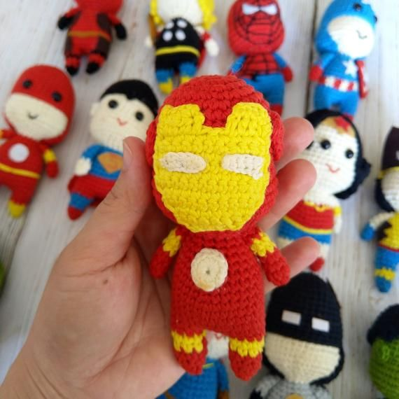Avengers Super heroes/ Handmade Crocheted Avengers End game toys/ Marvel Avengers Super Heroes Custo
