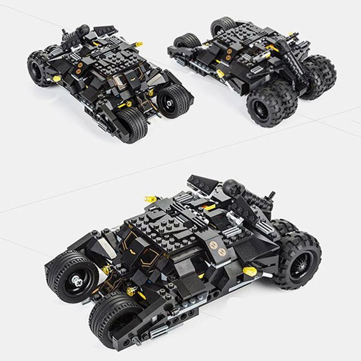 Batman Tumbler Batmobile Joker Super Hero DC Mini Figure Lego Compatible Toy