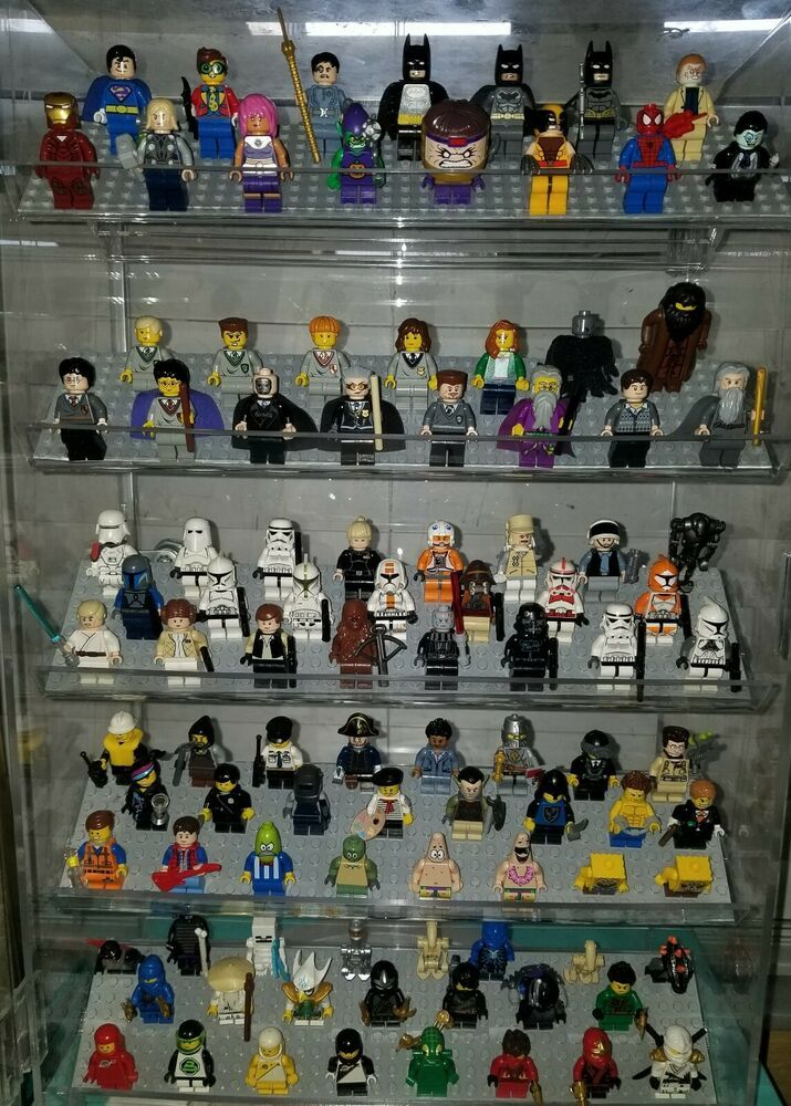 100 Authentic Lego Minifigures Lot Star Wars Super Heroes Harry Potter