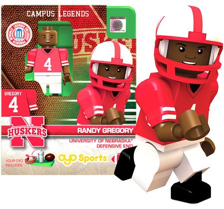 Husker Football Minifigure – Randy Gregory –  – Fat Brain Toys