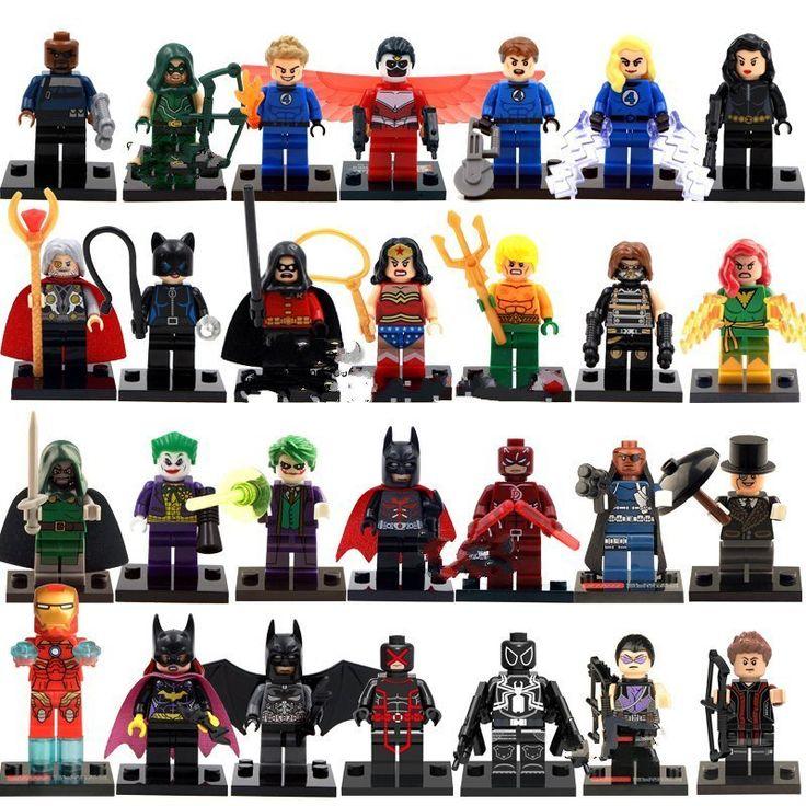 Super Heroes sets Marvel DC Minifigures Lego Compatible Toys