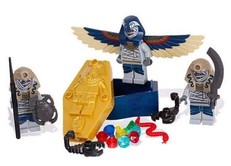 Details about LEGO Minifigures Pharaoh's Quest Skeleton Mummy Battle Pack Full Set