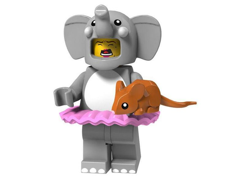 Elephant Costume Girl Minifigures Party building block Toy Compatible Lego Minifigures Series…