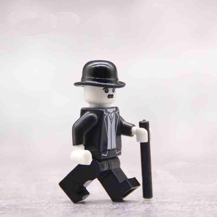 Charlie Chaplin Minifigures Compatible Lego Minifigures