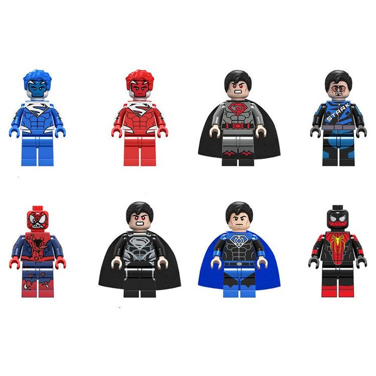 Superman Racing Suit Tony Minifigures Compatible Lego Super Heroes Minifigures