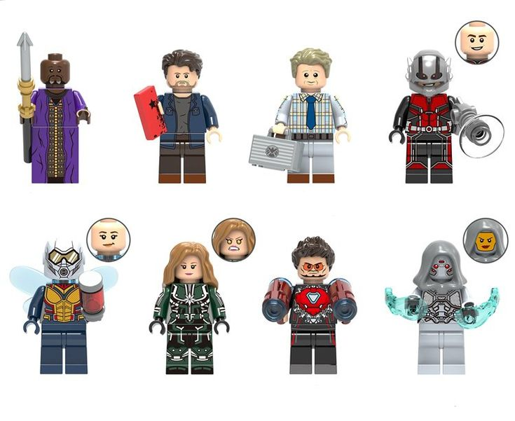 Captain Marvel Wasp Ant-Man Avengers 4 Super Heroes Minifigures Lego Compatible Toy