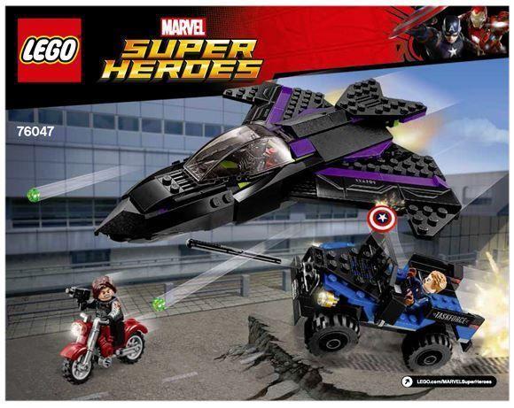 No Minifigures Lego Marvel Super Heroes Black Panther Pursuit 76047 – 3 Vehicles