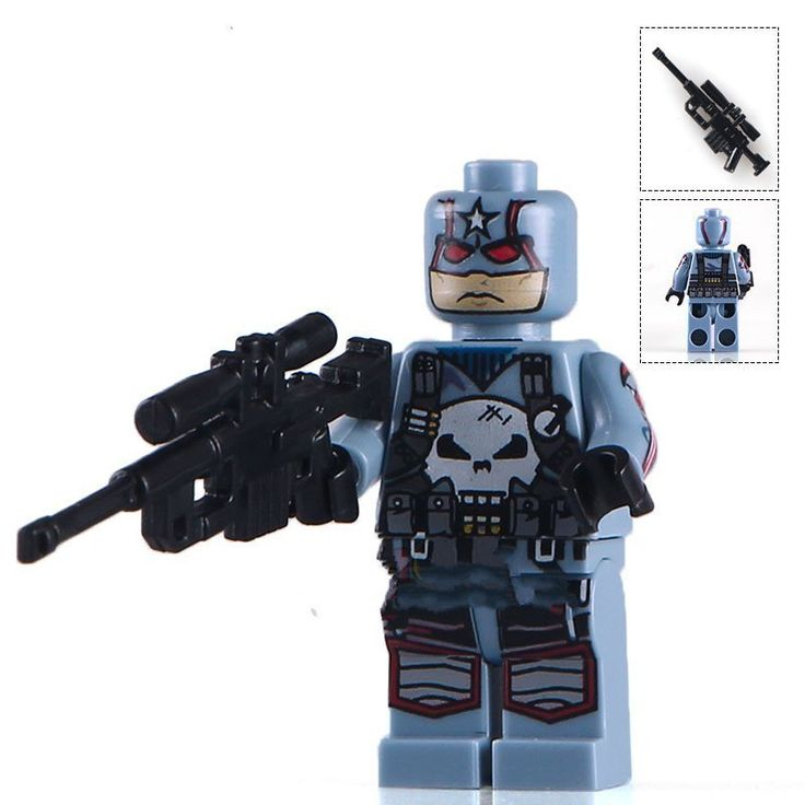 Captain Punisher Marvel Super Heroes minifigure Lego  Compatible toys