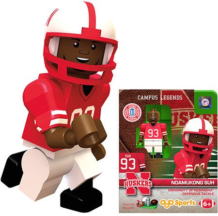 Husker Football Minifigure – Ndamukong Suh –  – Fat Brain Toys