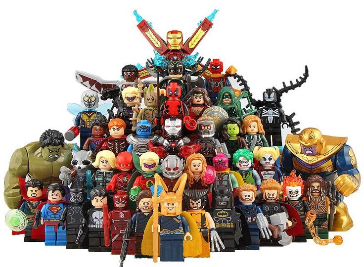 42pcs Christmas The Avengers Super Heroes Minifigures Compatible Lego Christmas Toy