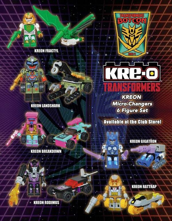 Botcon 2014 exclusive Kre-O Micro Changers.