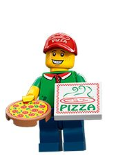 *n* Lego Series 12 – Pizza Delivery Man