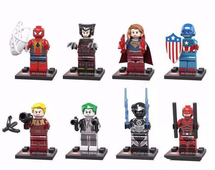 Wolverine Spider-Man Captain America Minifigures Compatible Lego Toy Super Heroes Minifigure