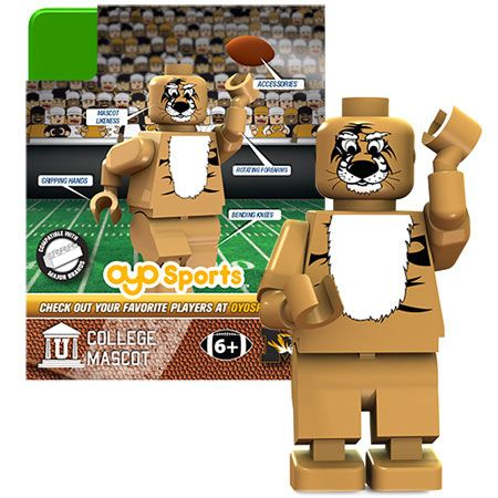 University of Missouri Mascot Minifigure – Truman the Tiger –  – Fat Brain Toys