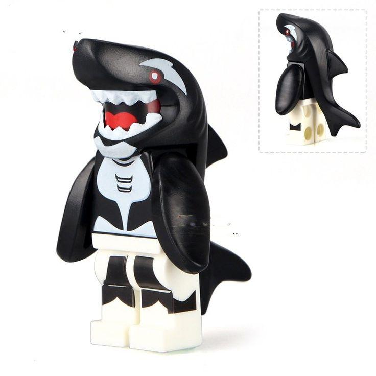 Lego Minifigure Series 15 Compatible Toy Orca Shark Villain The Batman movie