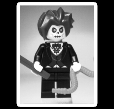 'Evil Magician Custom Minifigure with Magic Wand & Snake' T-Shirt by Chillee