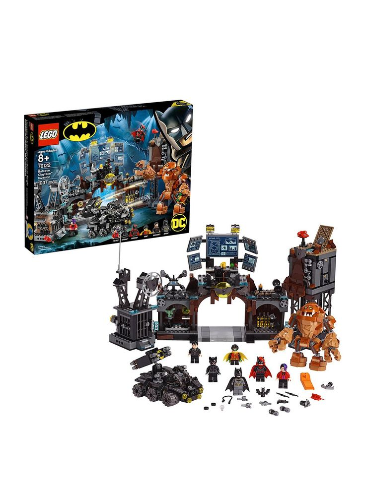 Lego Super Heroes 76122 Batcave Clayface Invasion Toys – One Colour –