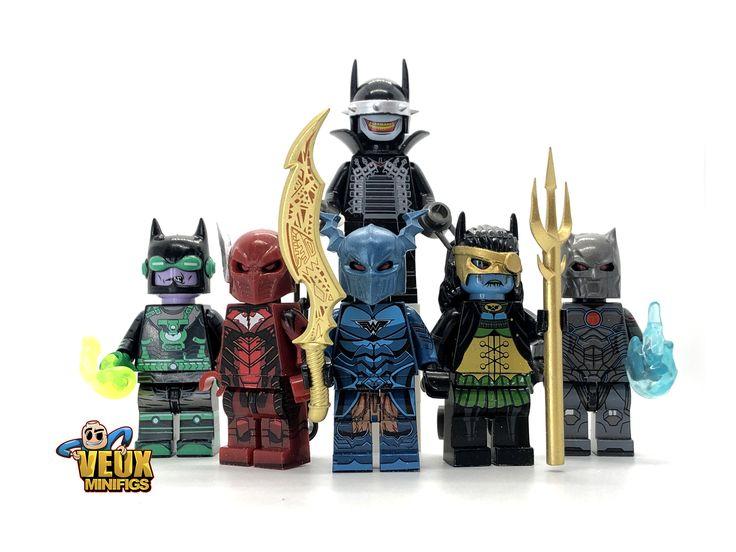 DC Comics Dark Nights: Metal batman custom Minifigures set