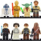 Star Wars custom set of 8 minifigures Lego compatible, Yoda, R2D2