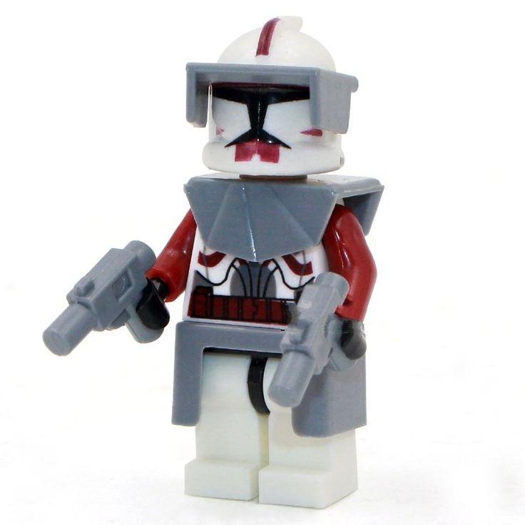 Star Wars Clone Commander Fox Minifigure Lego Compatible Toy