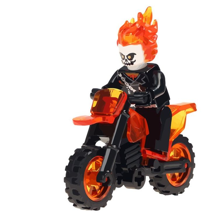 Ghost Rider minifigures Lego Marvel Super Heroes Compatible Toys