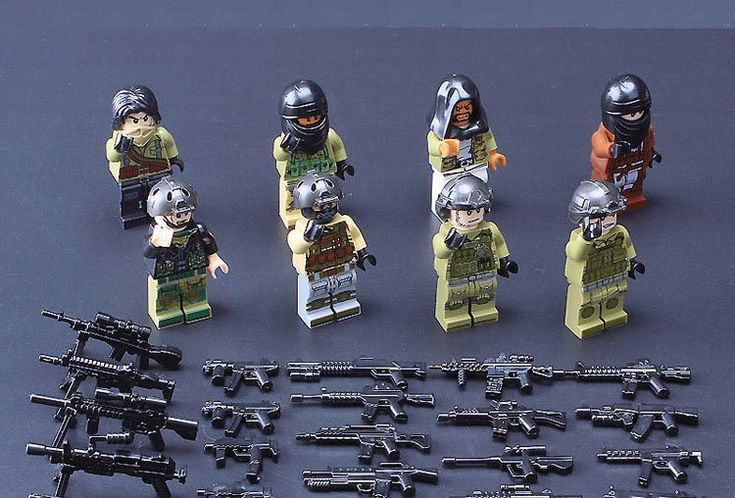 American army and Terrorists Minifigures Military Building block Toy Compatible Lego SWAT