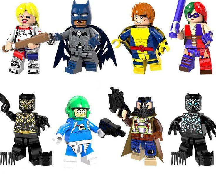 Batman Jaguar Harley Quinn Minifigures Lego Minifigures Compatible toys