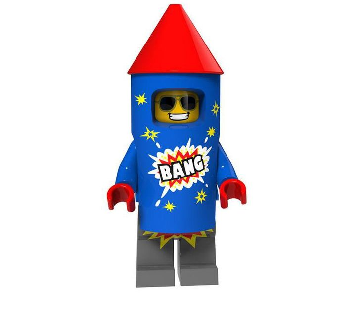 Firework Guy Minifigures Series 18 Party Compatible Lego Minifigures