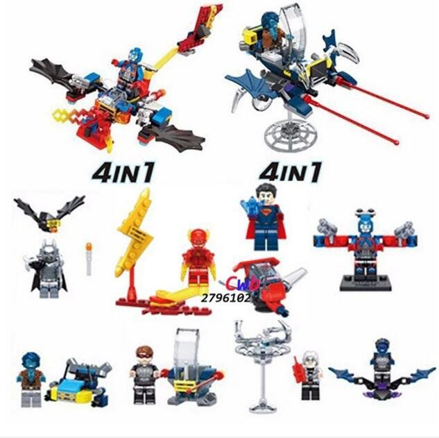 Super Heroes Batman Captain America Quicksilver minifigures Gifts Lego Compatible Toys
