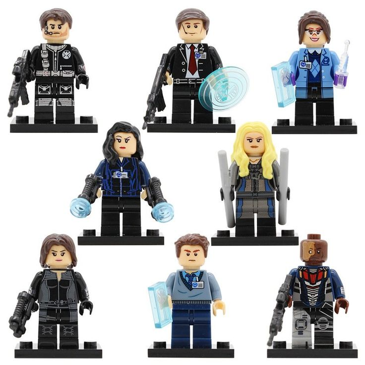 8pcs Minifigures S.H.I.E.L.D Deathlok Nick Fury Mockingbird Marvel Super Heroes Compatible Le…