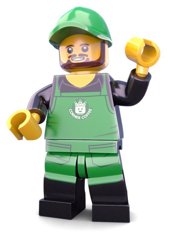 Coffee Barista Custom LEGO Minifigure LIMITED EDITION