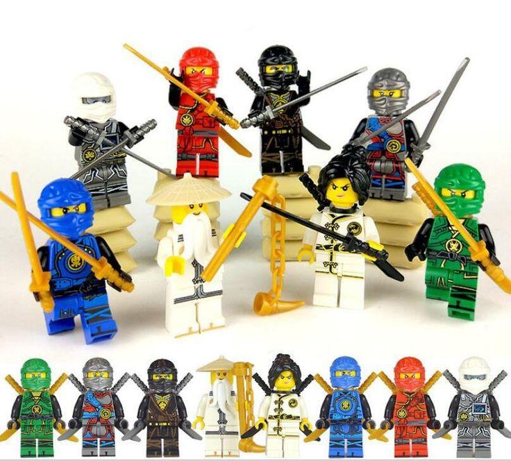 8pcs Wu Lloyd Kai Minifigures Lego Compatible Ninjago sets