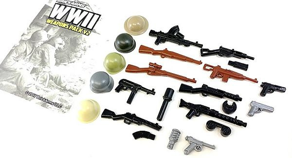 Details about BRICKARMS WWII Pack V2 for Minifigures Limited Edition Weapons Helmets
