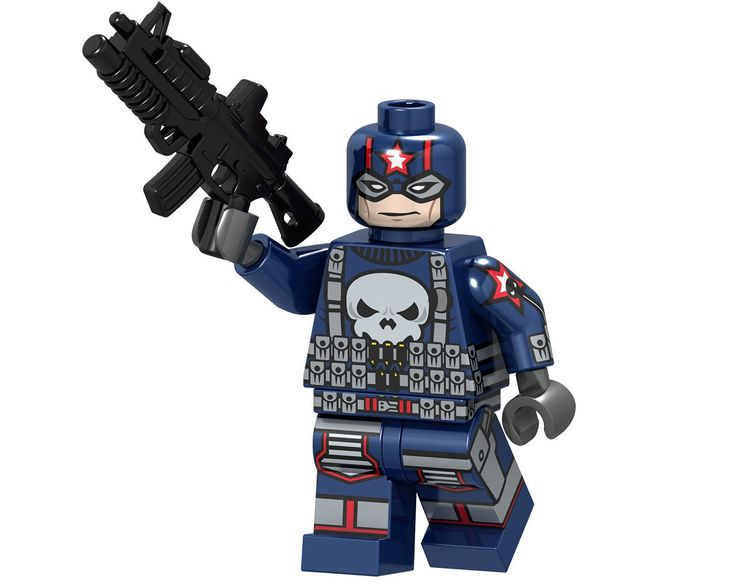 Super Heroes Punisher Minifigures Compatible Lego Minifigures Toy