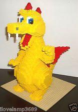 LEGO Set 3724 15″ CUSTOM Yellow Brick Plate Ninjago Dragon Sculpture LIKE 3723